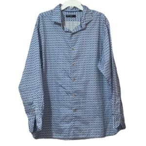 DANIEL CREMIEUX Mens Blue Dress Shirt
